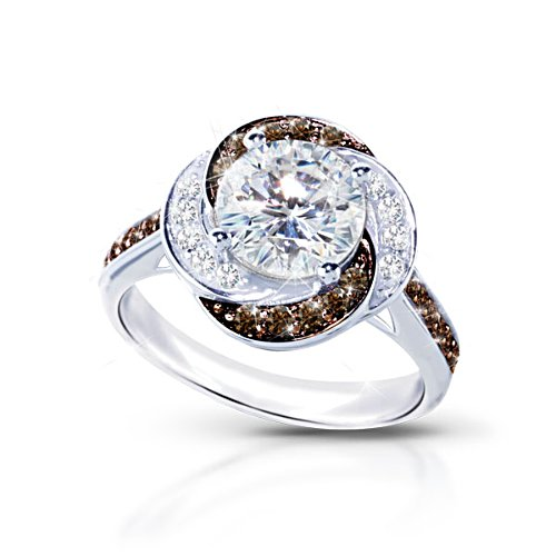 'White Russian' Cocktail Hour Diamonesk® Ring