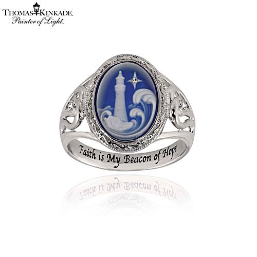 Thomas Kinkade 'Waves Of Hope' Ladies' Ring