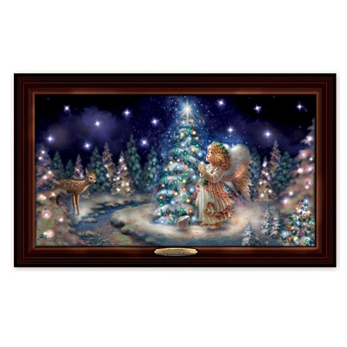 'Christmas Wishes' Angel Canvas