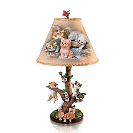 'Country Kitties' Lamp