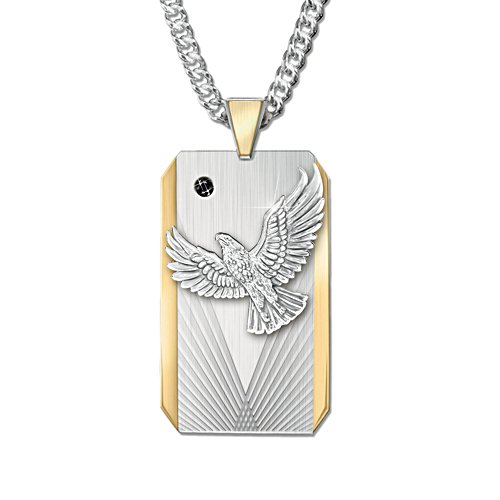 'Seize The Day' Son Dog Tag-Style Pendant