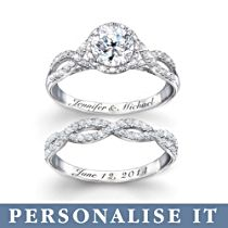 Entwined Diamonesk® Personalised Bridal Ring Set