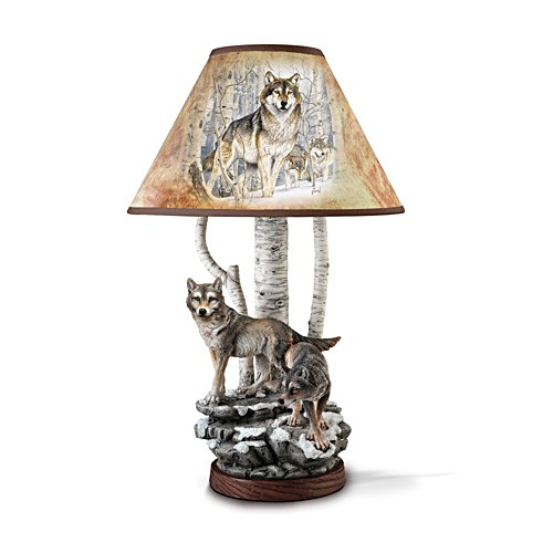 'Spirits Of The Forest' Wolf Lamp