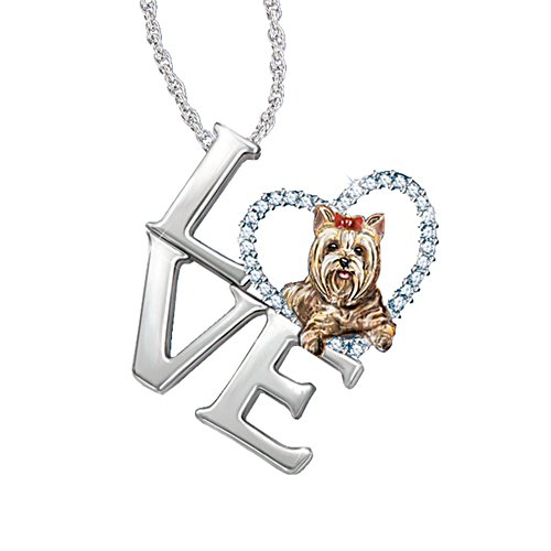 'Loving Companion' Yorkie Ladies' Pendant