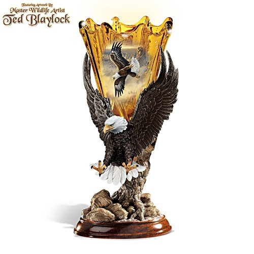 Ted Blaylock 'Golden Majesty' Eagle Torchiere Lamp