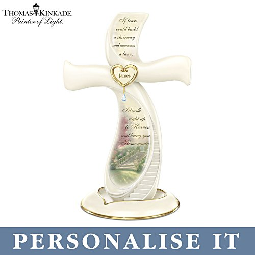 Thomas Kinkade 'Memories Of Love' Personalised Cross