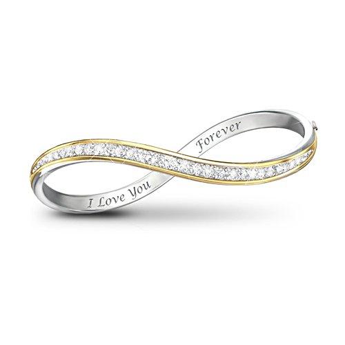 'Forever Love' 12-Diamond Infinity Bracelet