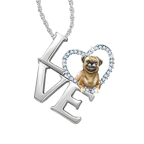 'Loving Companion' Pug Ladies' Pendant