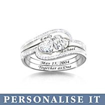 'Together As One' Personalised Interlock Ring