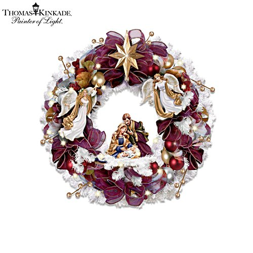 Thomas Kinkade 'Christmas Blessings' Wreath
