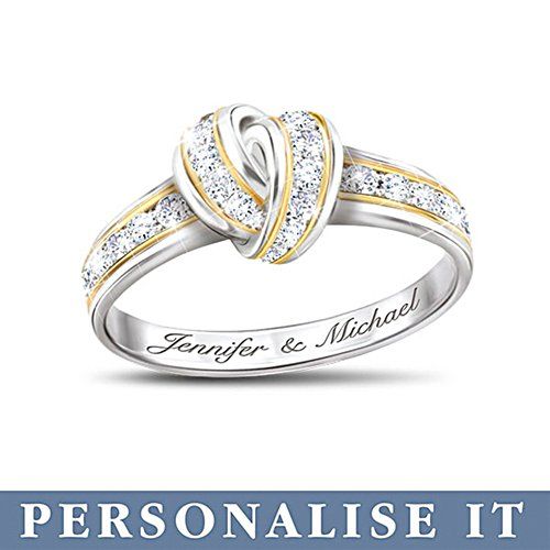 'Wrapped In Love' Personalised Diamond Ring