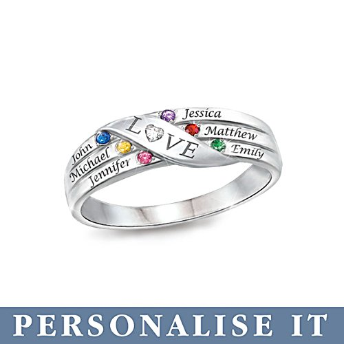 'Love Holds Our Family Together' Personalised Diamond Ring