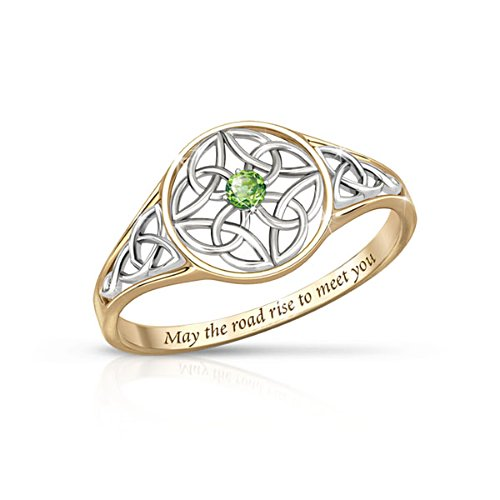 'Celtic Beauty' Peridot Women's Ring