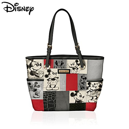 Disney 'Patches Of Love' Mickey And Minnie Tote Bag