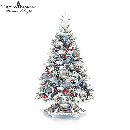Thomas Kinkade 'Reflections Of The Season' Tabletop Tree