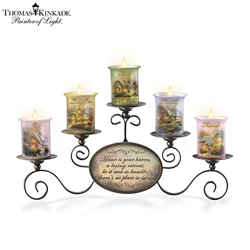 Thomas Kinkade 'Warmth Of Home' Candleholder Set