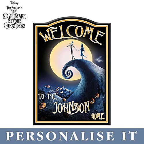 'The Nightmare Before Christmas' Personalised Welcome Sign