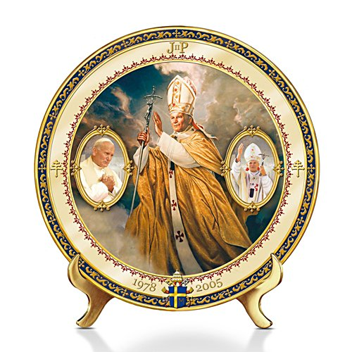 Saint John Paul II Commemorative Porcelain Collector Plate