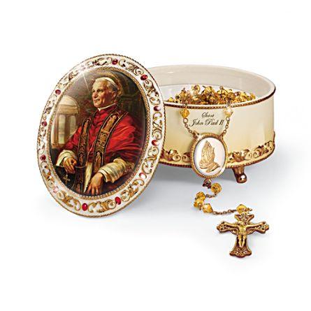 Saint John Paul II Commemorative Music Box