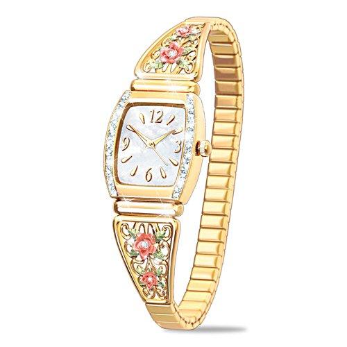 Die Schönheit der Rose – Armbanduhr