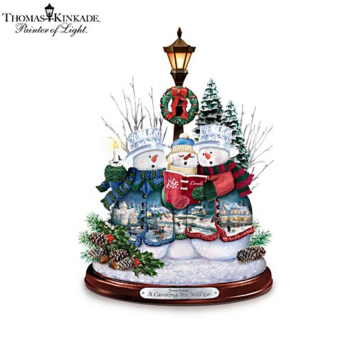 Thomas Kinkade 'A Caroling We Will Go' Musical Sculpture