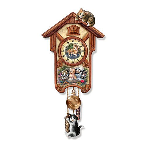 Jürgen Scholz 'Happy Tails' Art Wall Clock
