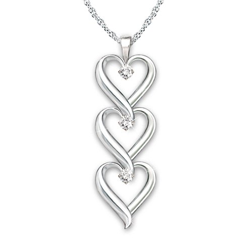 'Granddaughter, I Love You' Infinity Heart Diamond Pendant