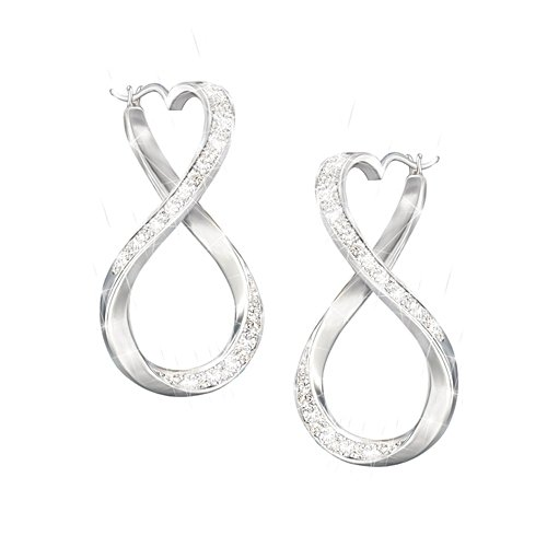 'Forever My Daughter' Engraved Diamond Earrings