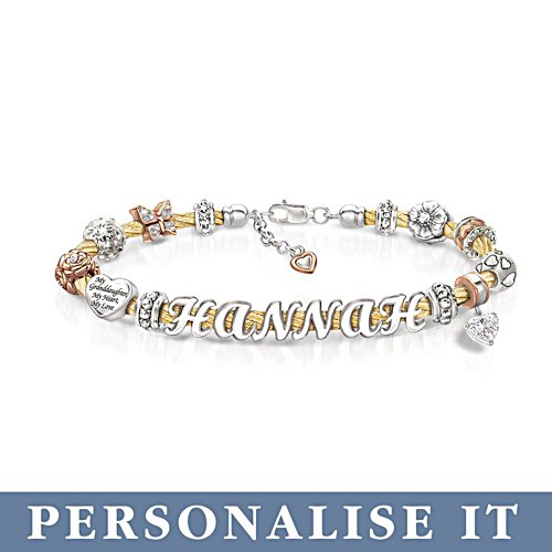 'My Granddaughter, My Love' Personalised Bracelet