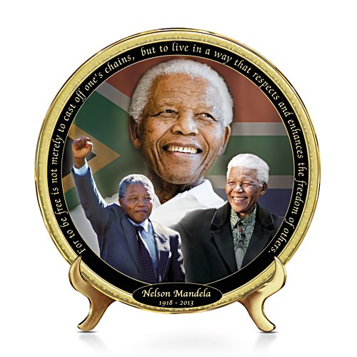'Father Of His Country' Nelson Mandela Commemorative Plate