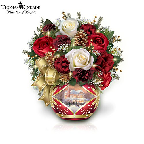 Thomas Kinkade 'Holiday Cheer' Table Centrepiece