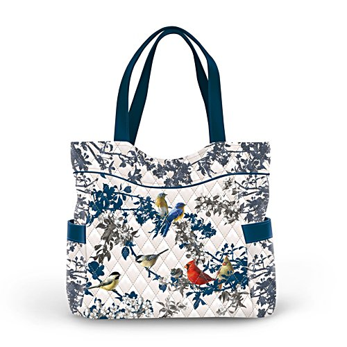 James Hautman 'Songs Of Spring' Bird Quilted Tote Bag