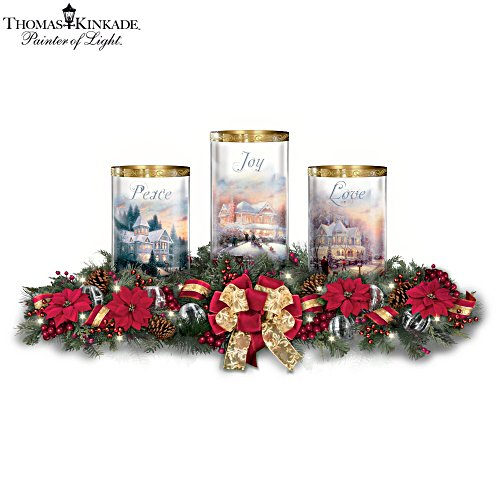 Thomas Kinkade 'Light Of The Season' Table Centrepiece