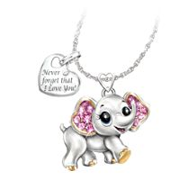 'Granddaughter, Never Forget I Love You' Elephant Necklace
