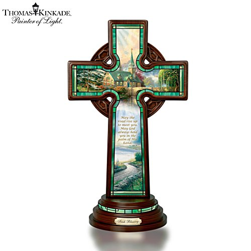 Thomas Kinkade 'Irish Blessing' Illuminated Celtic Cross