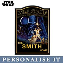 Star Wars™ Personalised Welcome Sign