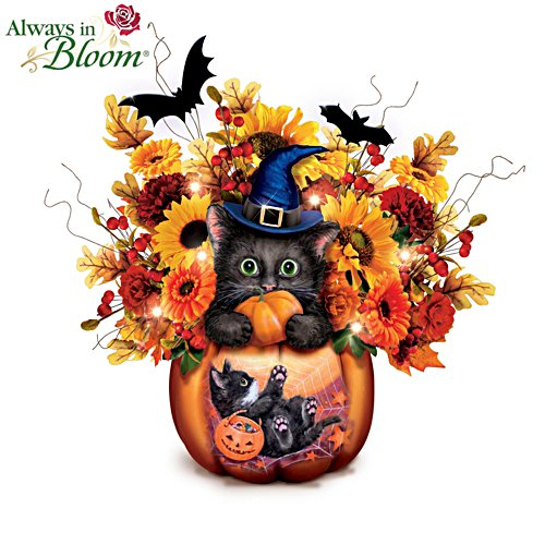 Kayomi Harai 'Scaredy Cat' Always in Bloom® Lit Pumpkin