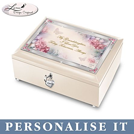 'My Granddaughter, I Love You Always' Personalised Music Box