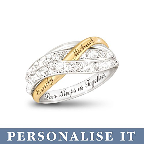 'Together In Love' Personalised Ring