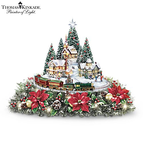 Thomas Kinkade 'Holidays Bring You Home' Table Centrepiece