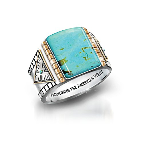 'Power Of The West' Men's Turquoise Ring