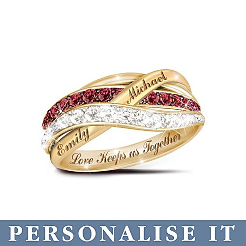 'Together In Love' Personalised Diamond Ring