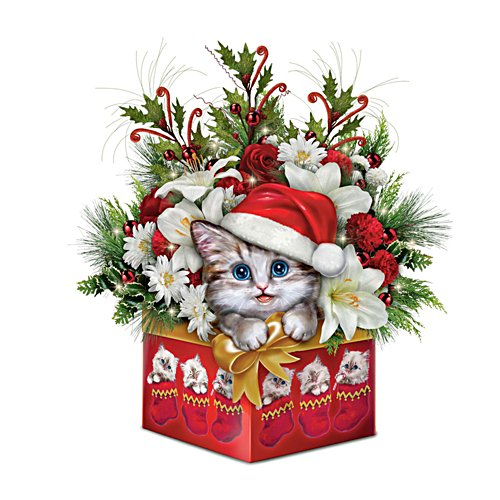 'Have Yourself A Meowy Little Christmas' Table Centrepiece