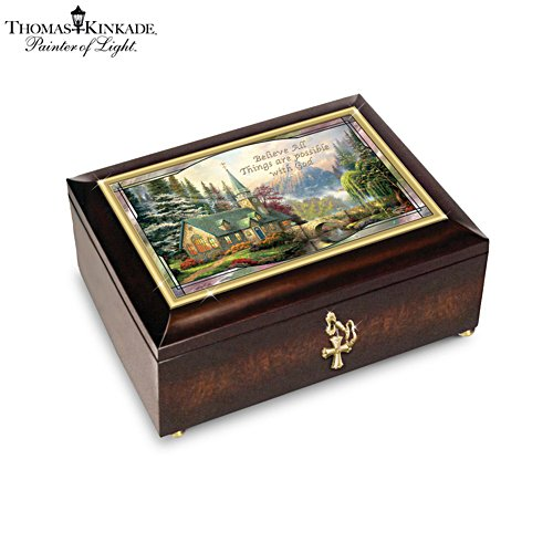 Thomas Kinkade 'Believe All Things Are Possible' Music Box