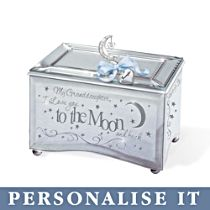 'Granddaughter, I Love You' Moon Personalised Music Box