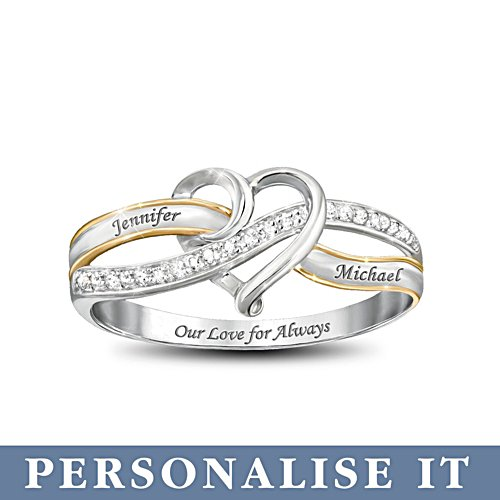 'Our Love For Always' Personalised Diamond Ring