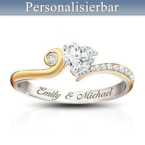 Lächelndes Herz - Diamonesk®-Diamantring