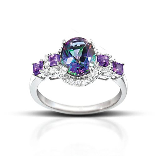 'Alluring Beauty' Topaz And Amethyst Ladies' Ring