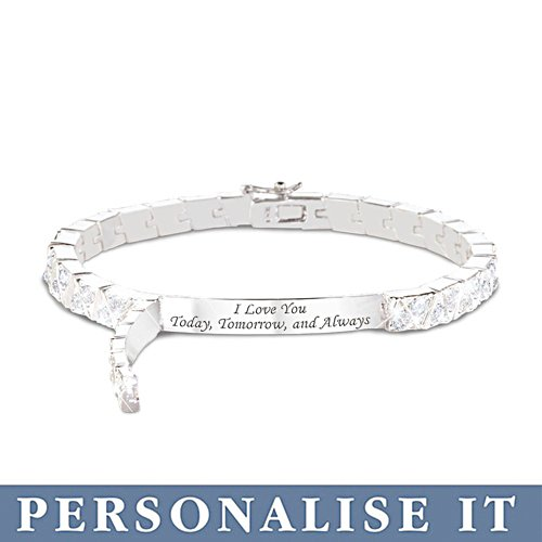 'Hidden Message Of Love' Personalised Bracelet