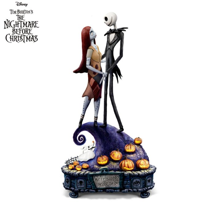 Tim Burton Nightmare Before Christmas Jack And Sally.Disney Tim Burton The Nightmare Before Christmas Simply Meant To Be Music Box